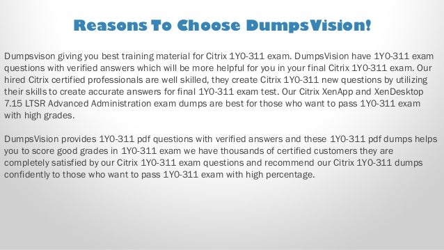 VCE Simulator CITRIX 1Y0-311 Exam Latest Dump Test Practice Q/&A PDF