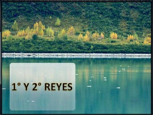 Hebreo: Melajim Alef – 'Reyes A' Griego: Prota Basileus – '1 Reyes' Originalmente eran 1 libro, luego fue dividido en 2 po...