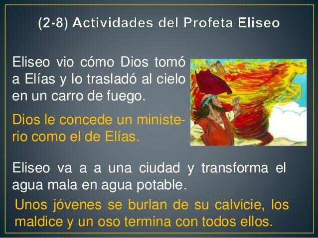 La codicia de Giezi, siervo de Eliseo Eliseo y el leproso general sirio Naamán Eliseo hace el milagro de flotación del hac...