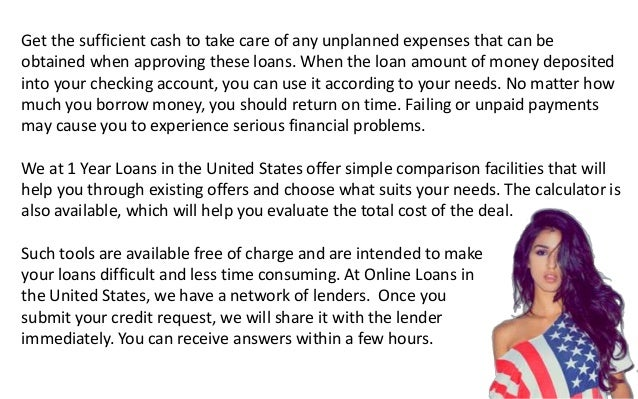 1 Year Loans Bad Credit USA Without Guarantor! Slide 3