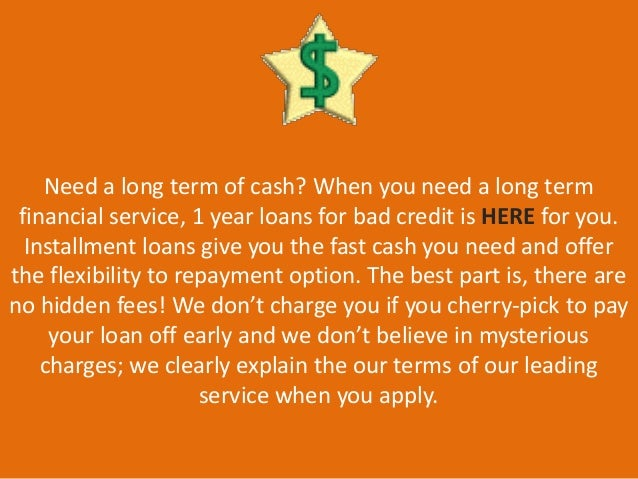 1 Year Loans For Bad Credit - Guaranteed Approval with Flexible APR! Slide 2