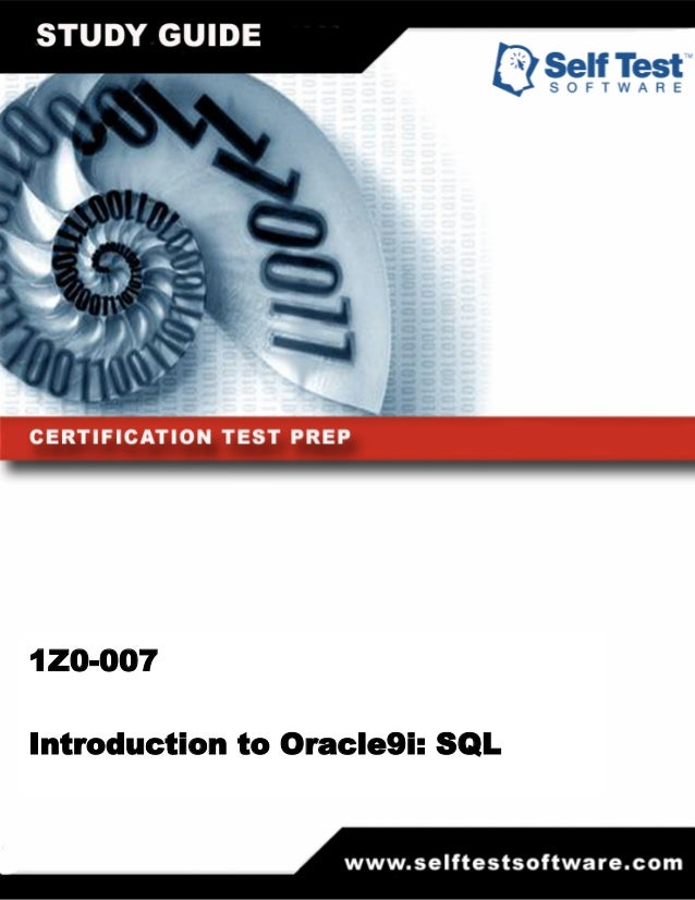 1Z0-007Introduction to Oracle9i: SQL