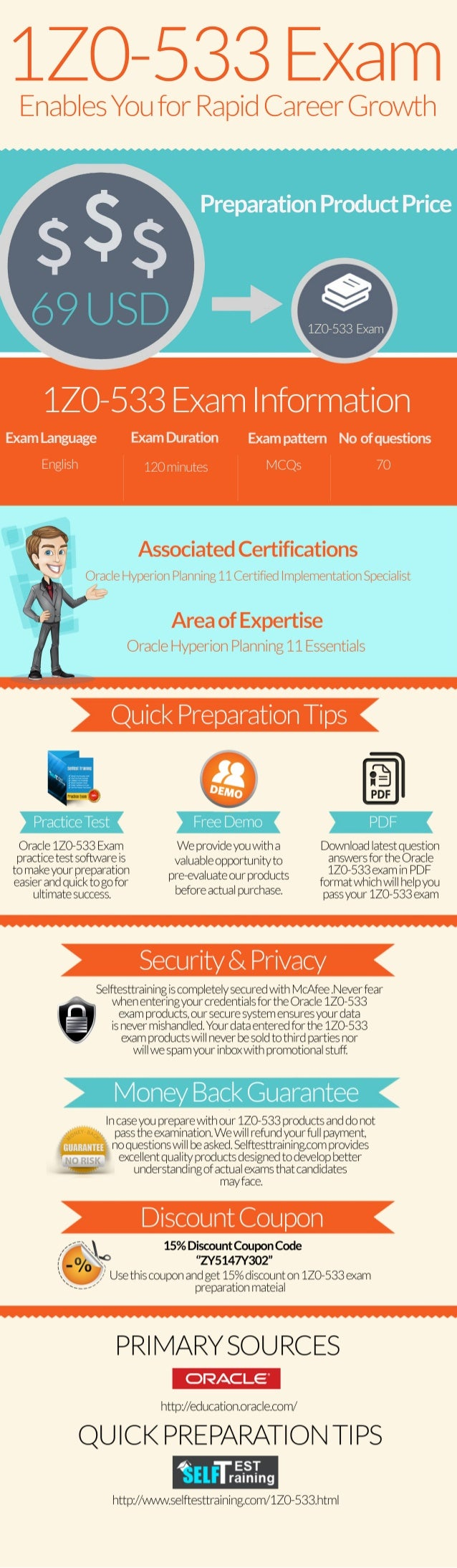 1z0-533 exam questions & practice tests [infographic]