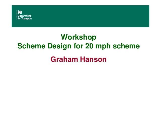 Workshop Scheme Design for 20 mph scheme Graham Hanson