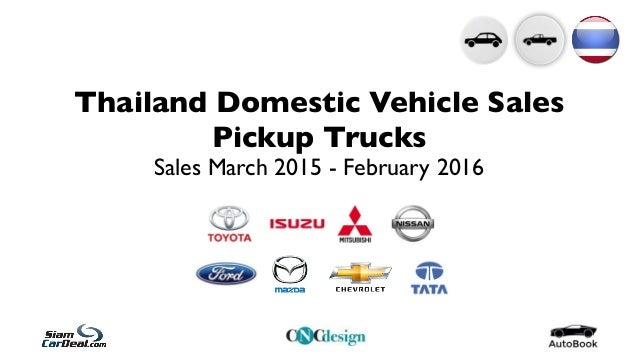 Thailand Domestic Vehicle Sales Pickup Trucks Sales March 2015 - February 2016