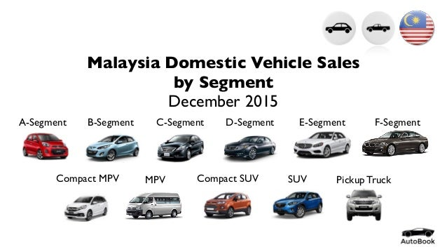 Malaysia Domestic Vehicle Sales by Segment December 2015