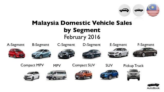 malaysia domestic vehicle sales by segment february 2016. Black Bedroom Furniture Sets. Home Design Ideas