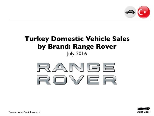 2016-07 Turkey Car Sales Range Rover July 2016