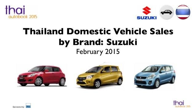 Thailand Car Sales Suzuki February 2015