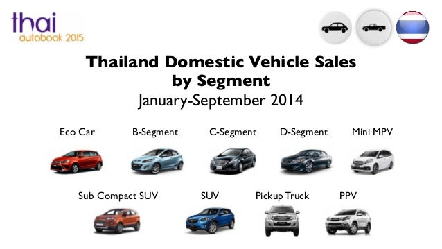 Thailand Automotive Sales By Segment September 2014