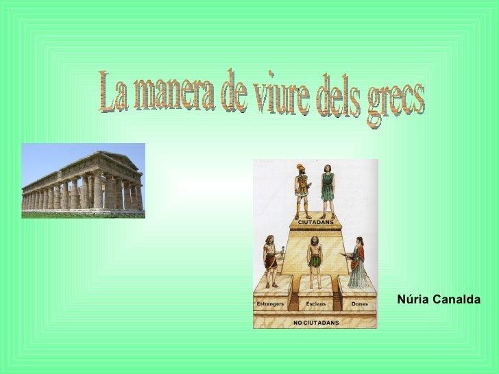 La manera de viure dels grecs Núria Canalda