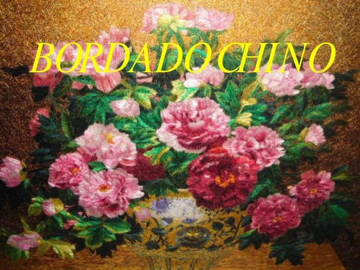 B ORDADO   CHINO
