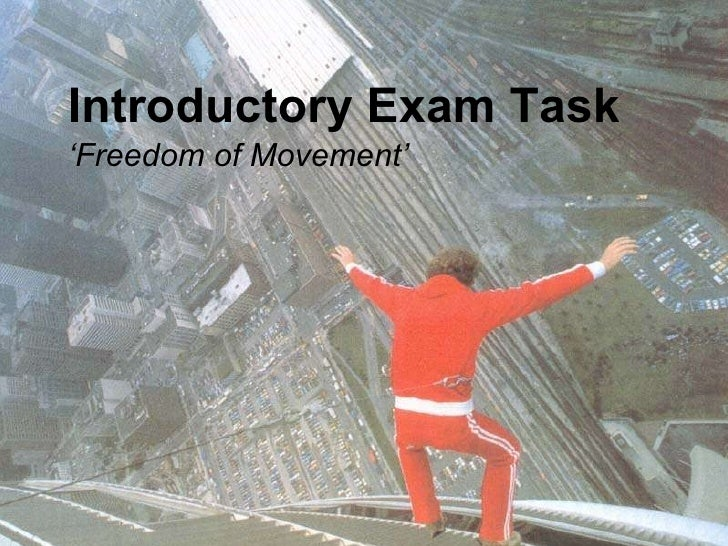 Introductory Exam Task ' Freedom of Movement'
