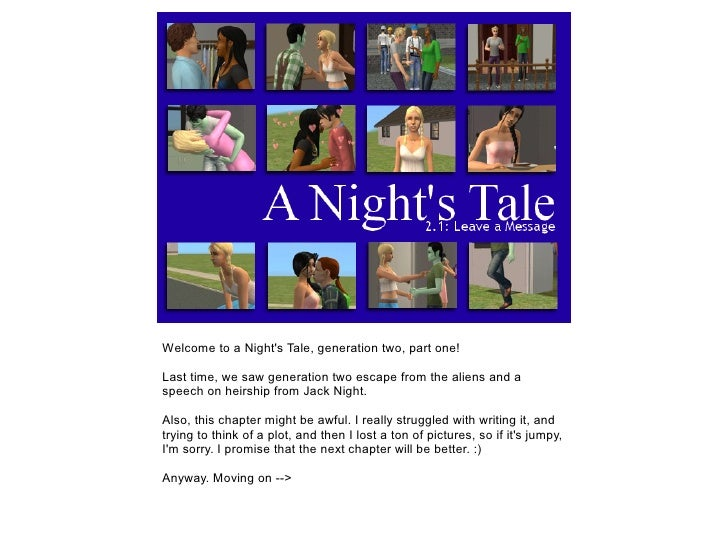 Welcome to a Nights Tale, generation two, part one!Last time, we saw generation two escape from the aliens and aspeech on ...