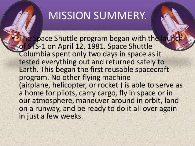 the space shuttle program began when the flue on april 12 1981 - photo #11