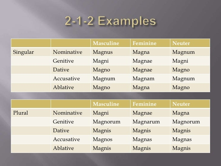 2 1 2 And 3rd Declension Adjectives