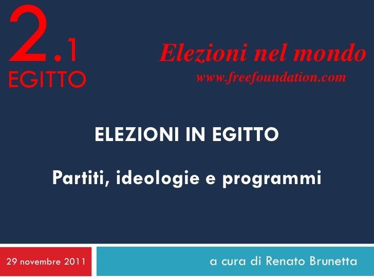2.1EGITTO                         Elezioni nel mondo                            www.freefoundation.com                   E...