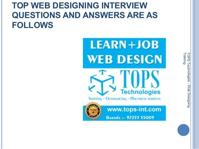 web designer interview questions