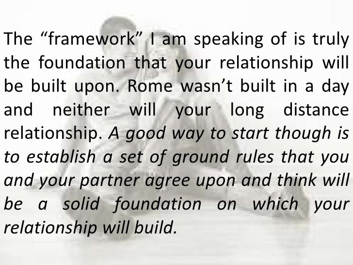 How to build a good foundation for a relationship