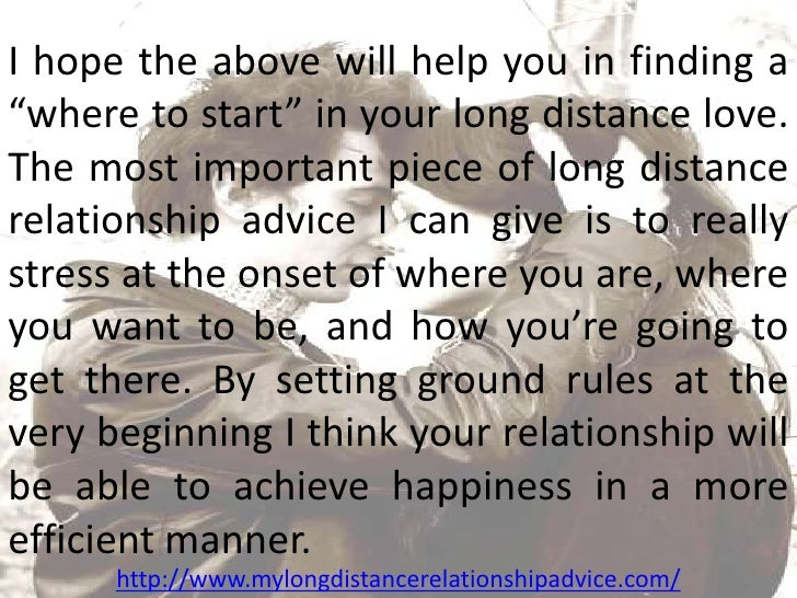 How to initiate a long distance relationship