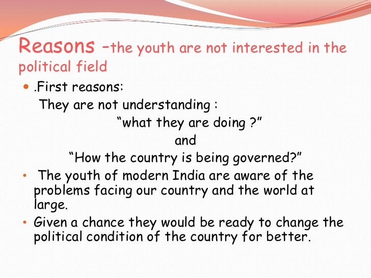 youth in politics pros and cons