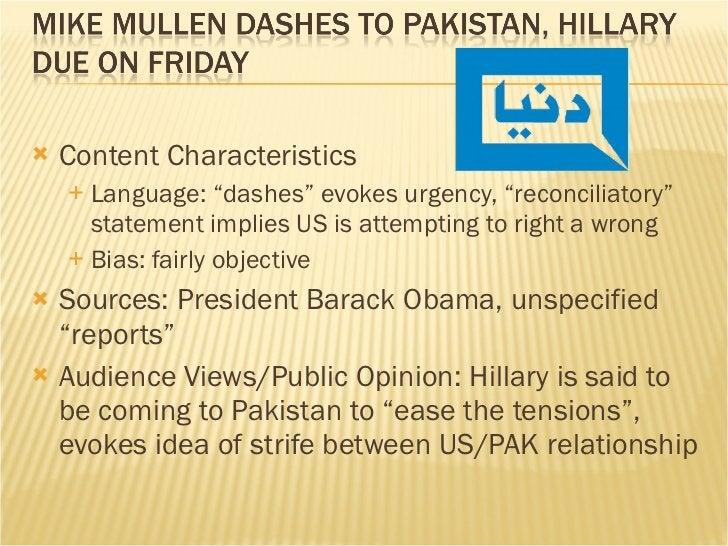 "<ul><li>Content Characteristics </li></ul><ul><ul><li>Language: ""dashes"" evokes urgency, ""reconciliatory"" statement implie..."
