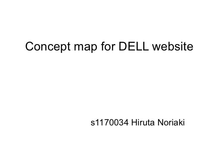 Concept map for DELL website          s1170034 Hiruta Noriaki