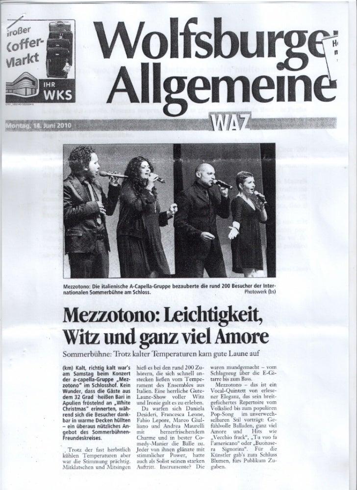 Mezzotono Wolfsburger Allgemeine 2010