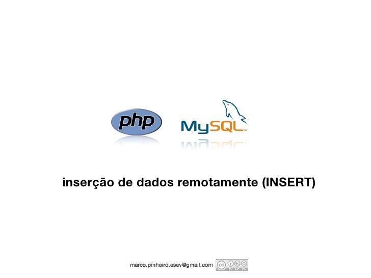 inserção de dados remotamente (INSERT)