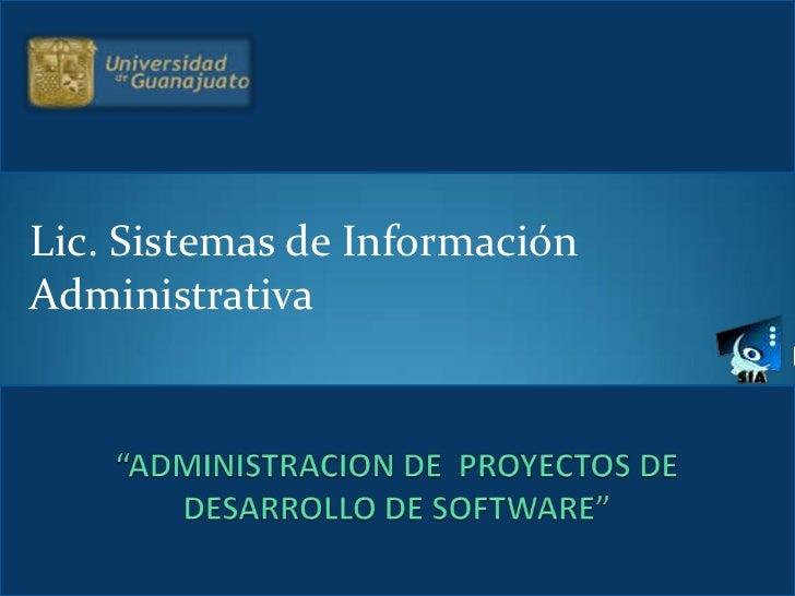 Administraci n de proyectos de desarrollo de software for Oficina de proyectos