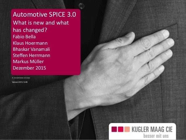 Seite 1 © KUGLER MAAG CIE GmbH Automotive SPICE 3.0 What is new and what has changed? Fabio Bella Klaus Hoermann Bhaskar V...