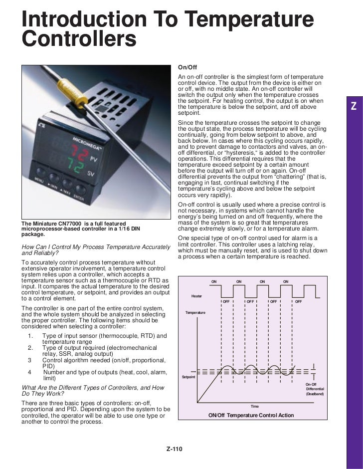 Introduction To TemperatureControllers                                                              On/Off                ...