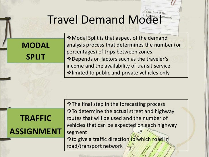 the transportation model A transportation modeling primer  making transportation models work for livable communities  thus the model would predict a large number of trips between a high .