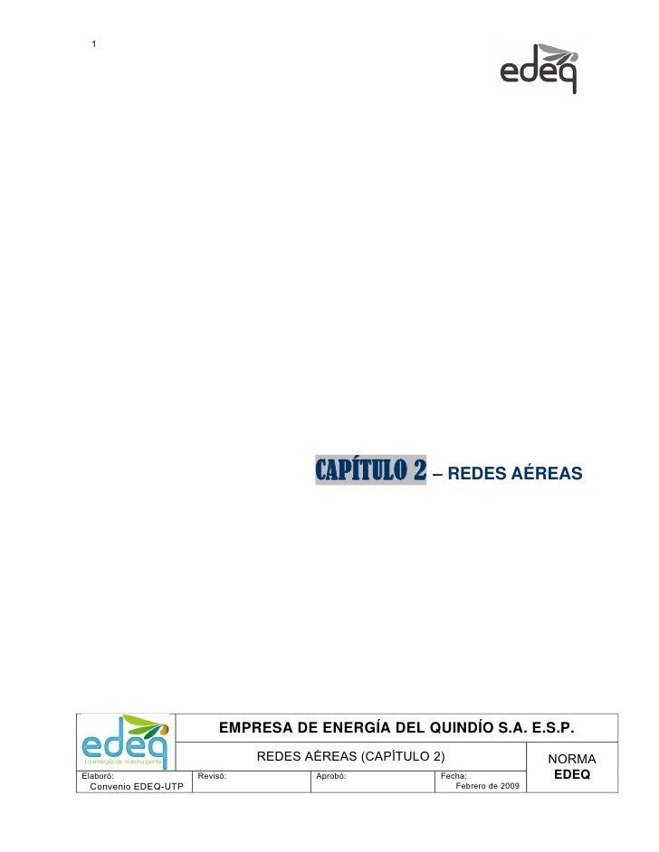 1                                       CAPÍTULO 2 – REDES AÉREAS                           EMPRESA DE ENERGÍA DEL QUINDÍO...