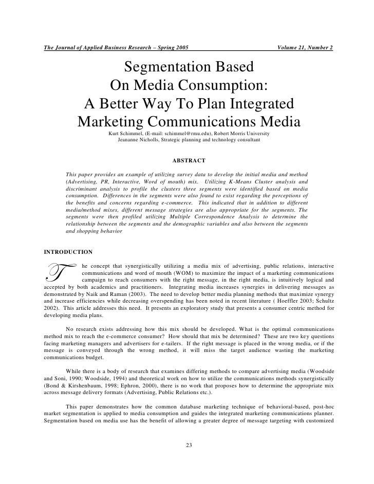 The Journal of Applied Business Research – Spring 2005                                          Volume 21, Number 2       ...