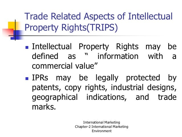 Investment Agreement Intellectual Property As Defined In Trips