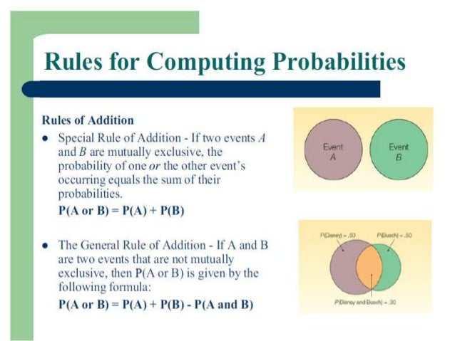 Multiplication Rule• The joint probability of any two events A  and B is• P (A and B) = P (A) P (B|A)Or• P (A and B) = P (...