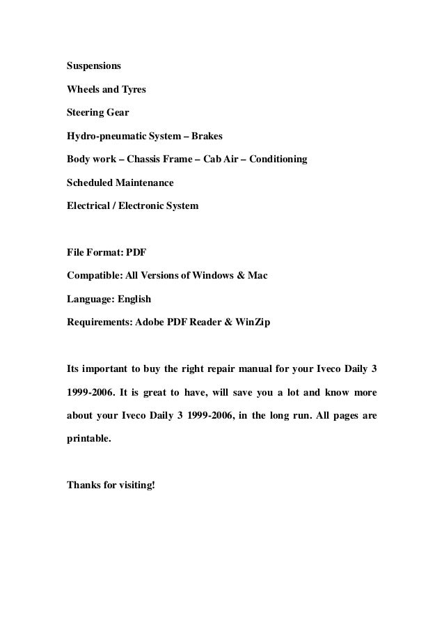 iveco daily 3 19992006 service repair workshop manual download 1999 2000 2001 2002 2003 2004 2005 2006 2 638?cb\=1356769087 iveco daily wiring diagram english iveco police \u2022 wiring diagrams iveco wiring diagram pdf free download at soozxer.org