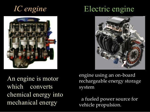 Internal Combustion Engine Vs Electric Engine