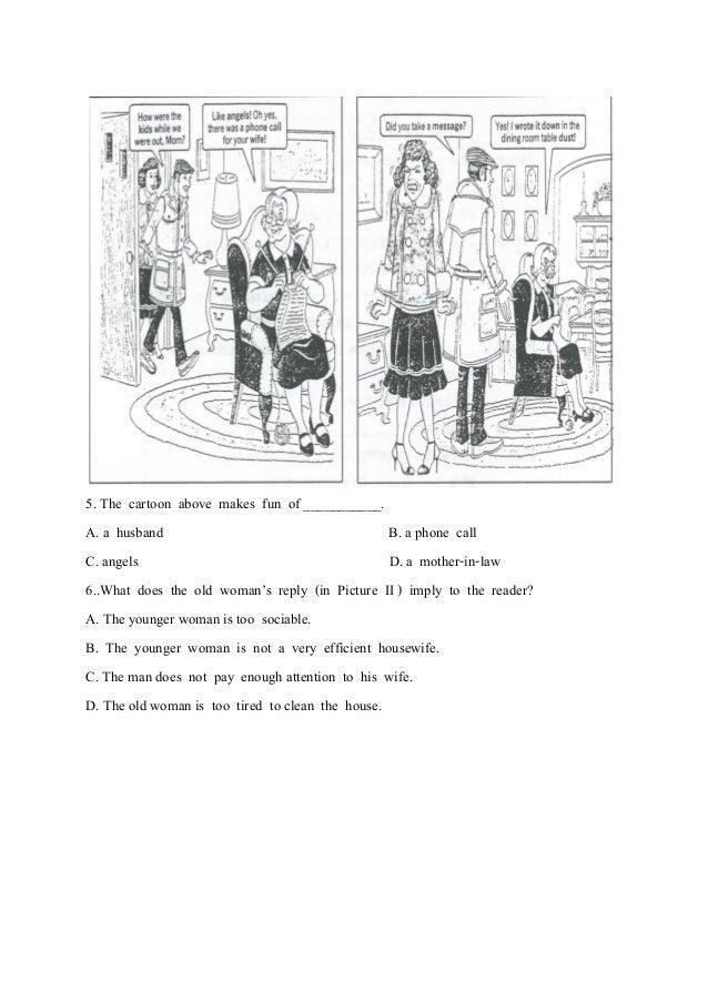 ชุดที่2 โยก  มีเฉลย- 12หน้าข้อสอบการ์ตูนภาษาอังกฤษกลางภาคเรียนที่2-2557 Slide 2