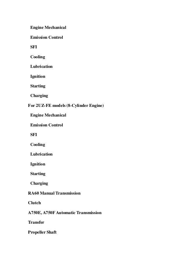2001 toyota tundra manual pdf