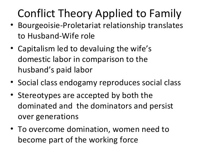 conflict theory view on family