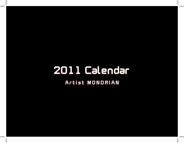 2011 Calendar Artist MONDRIAN