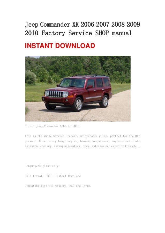 jeep commander xk 2006 2007 2008 2009 2010 manual