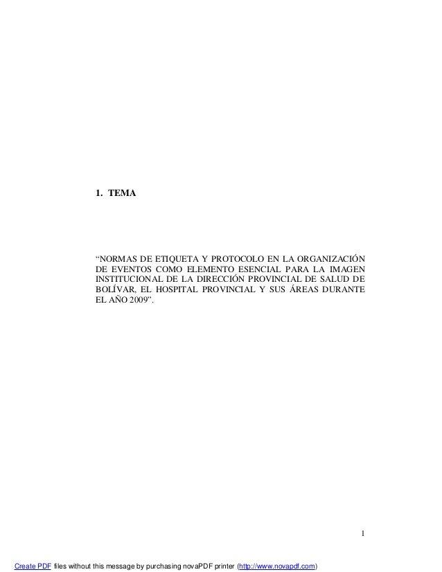 """11. TEMA""""NORMAS DE ETIQUETA Y PROTOCOLO EN LA ORGANIZACIÓNDE EVENTOS COMO ELEMENTO ESENCIAL PARA LA IMAGENINSTITUCIONAL DE..."""