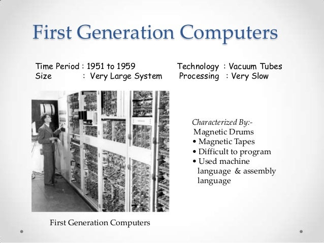 computer generation The history of computer development is often referred to in reference to the different generations of computing devices a generation refers to the state of.