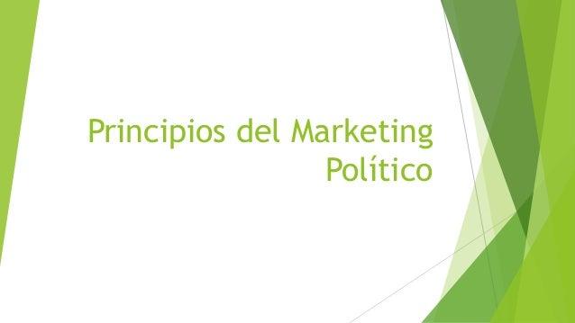 Principios del Marketing Político