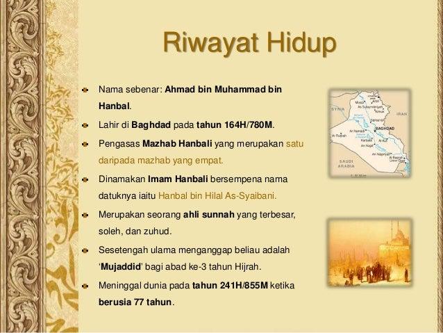 Pend Agama Islam Tingkatan 4 Sirah Imam Ahmad Bin Hanbal Rahimahu