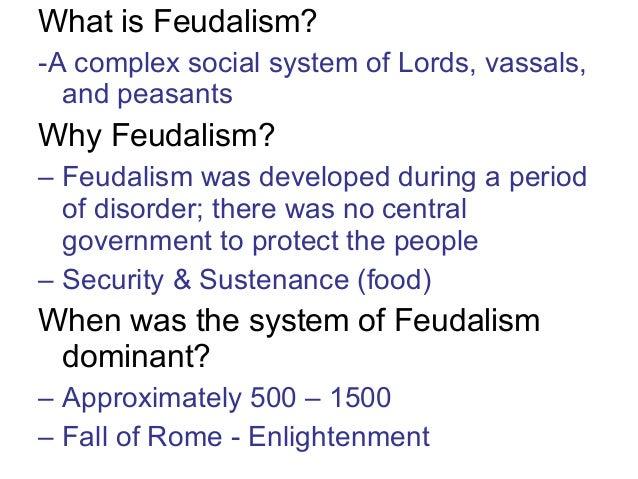 Feudalism essay questions