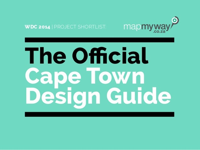 The Official Cape Town Design Guide WDC 2014 | PROJECT SHORTLIST: